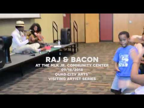Raj & Bacon at the Martin Luther King Jr. Center