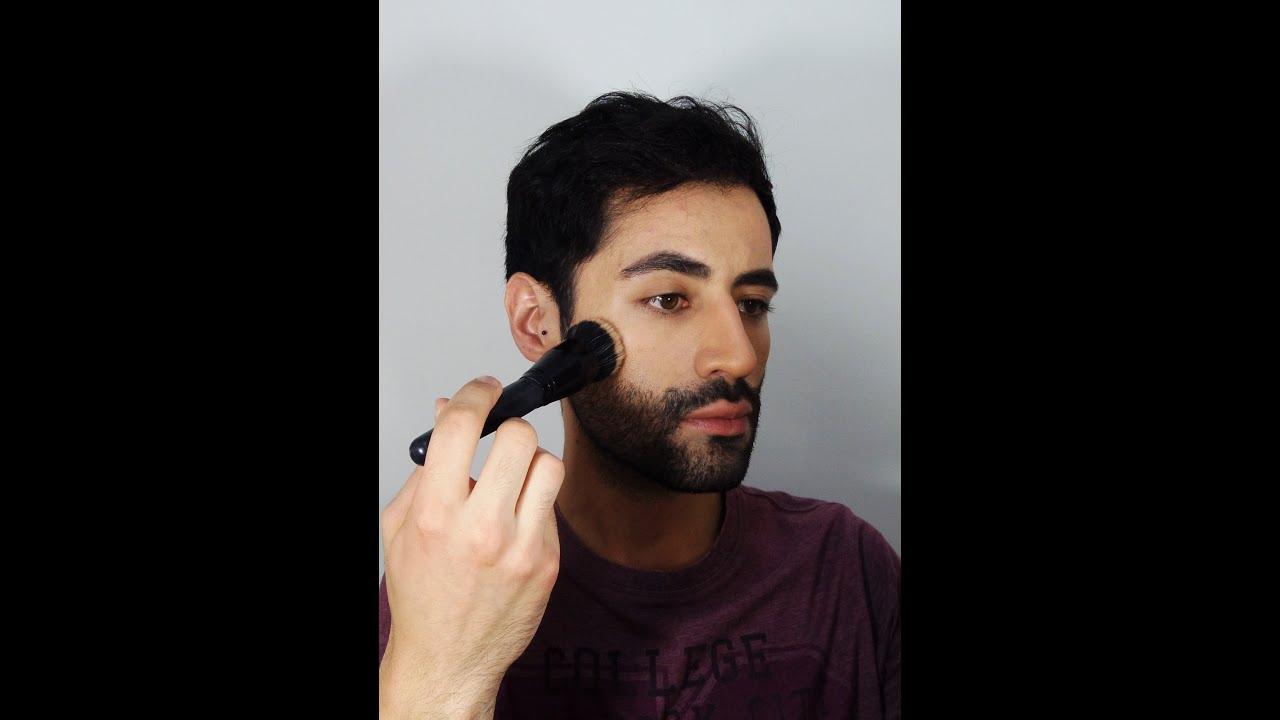 maquillaje de barba
