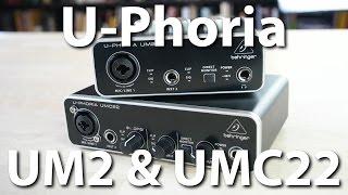 Behringer U-Phoria UM2 und UMC22 - Zwei Einsteiger-Audio-Interfaces im Test