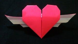 Cara Membuat Origami Hati Bersayap | Origami Hati