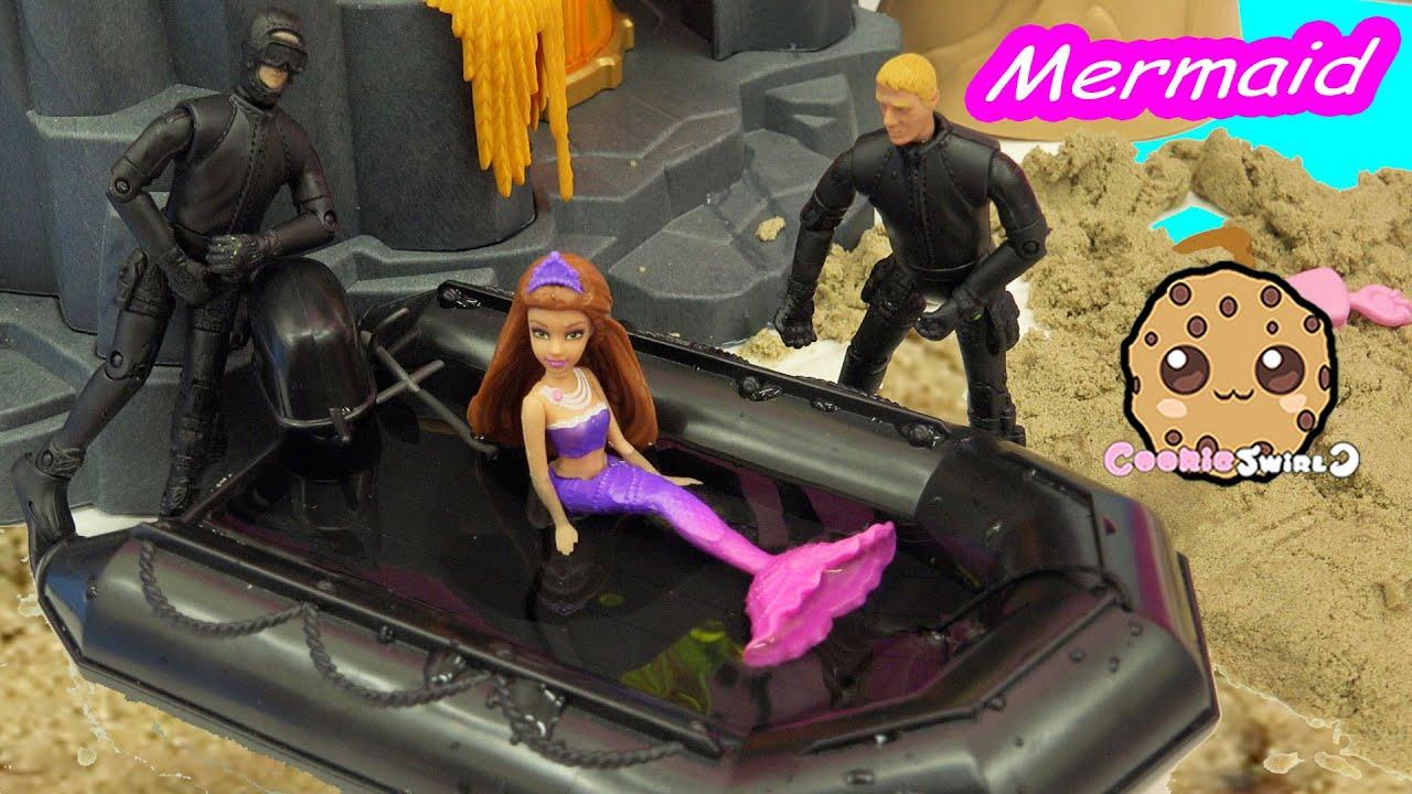 Water Boat – Trapped Mermaid Part 7 – Barbie Mini Doll Video Series  CookieSwirlc
