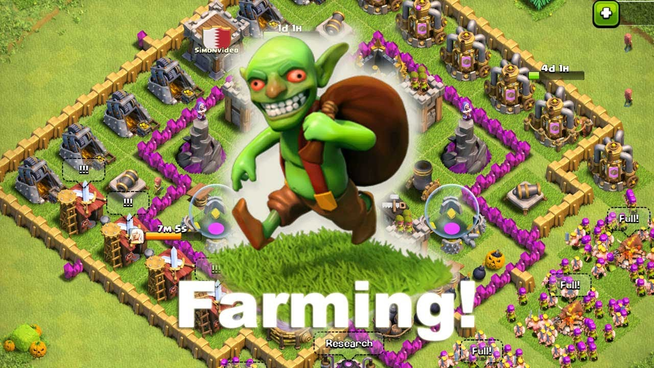clash of clans farming