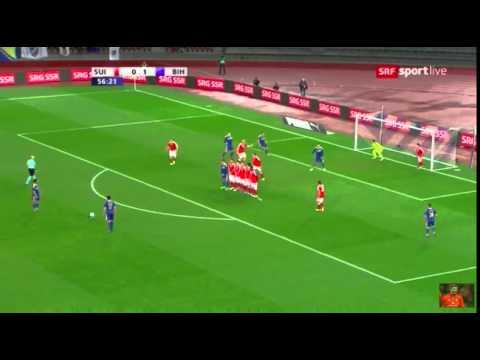 AMAZING GOAL MIRALEM PJANIC   SVIZZERA-BOSNIA 0-2