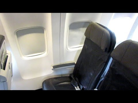 Alaska Airlines 737 Premium Class, Seattle to Boston