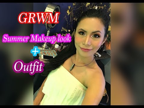 GRWM || SUMMER MAKEUP LOOK 2018 + OUTFIT