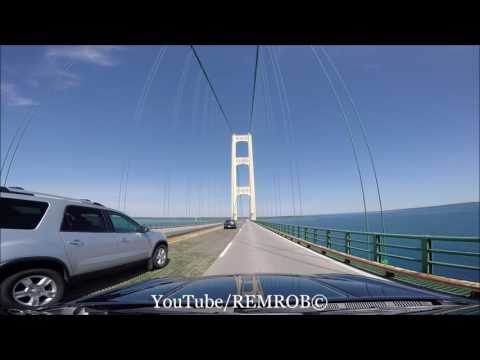 Driving Over Mackinac Bridge, MI