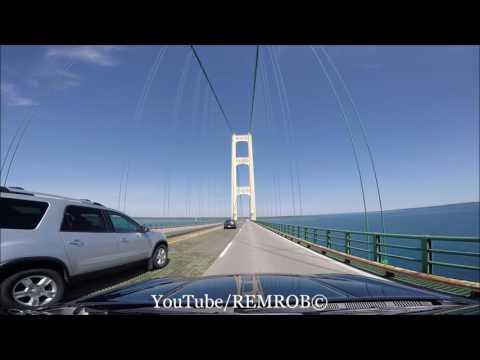 Driving Over Mackinac Bridge, MI