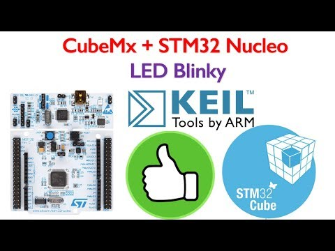 STM32 Nucleo Board Programming 1- LED Blinking code generation using STM32CubeMx for Keil