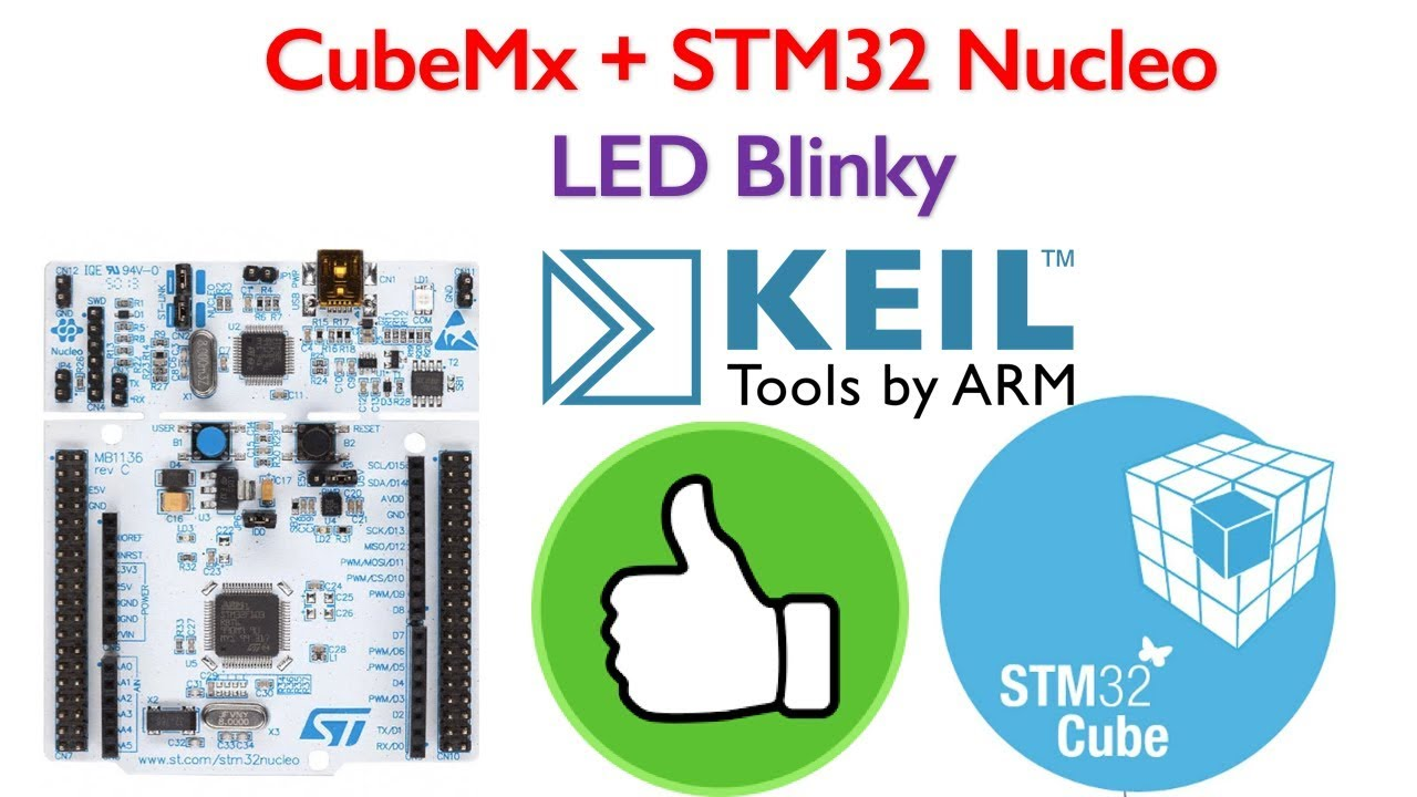 STM32 Nucleo Tutorial 1- LED Blinking code generation using STM32CubeMx for  Keil
