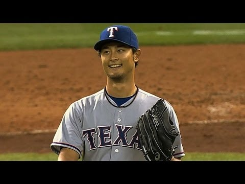 Darvish takes perfect game into the ninth