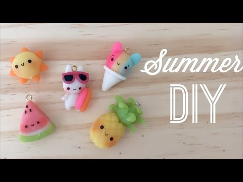 kawaii-polymer-clay-tutorial---diy-cute-summer-charms
