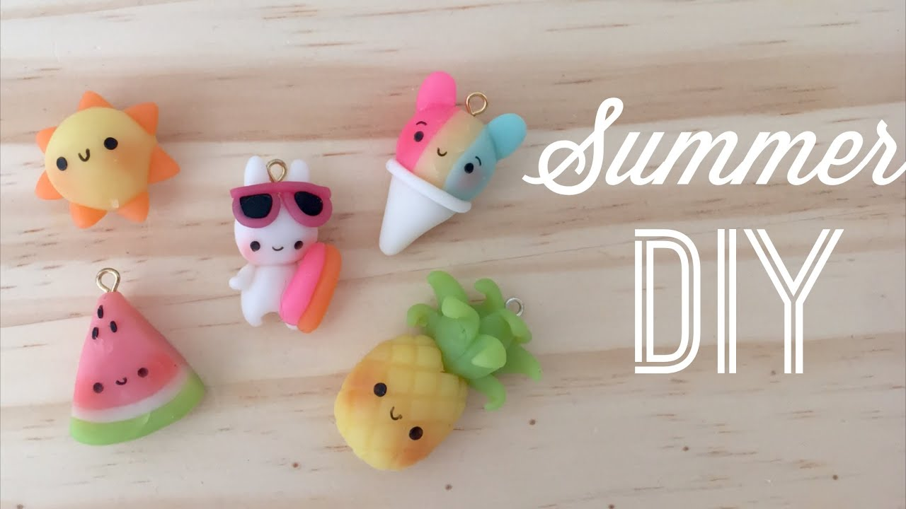 Kawaii Polymer Clay Tutorial Diy Cute Summer Charms