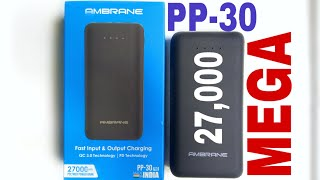 Ambrane 27,000 mah Power Bank Unboxing || PP-30 || It Can Charge Your Laptop