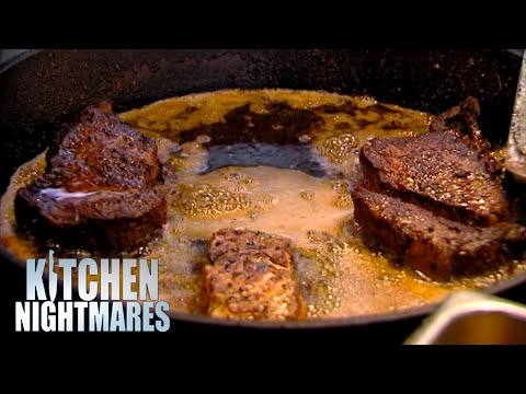 Chef Cooks PescatarianFood With Red Meat   Kitchen Nightmares