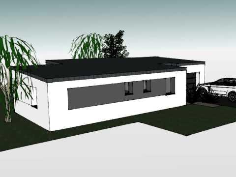 arteco 339 maison monopente zinc plain pied