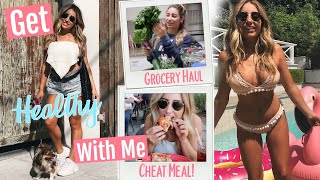 Getting My Abs Back! Get Healthy With Me! Grocery Haul, CHEAT MEAL/ VLOG