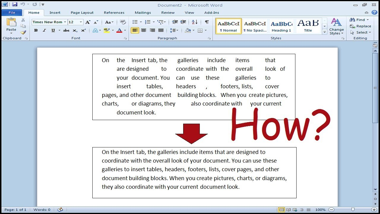Microsoft Word Letter Spacing.How To Get Rid Of Large Space Between Words In Ms Word