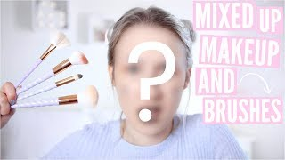 Mixed Up Makeup AND Brushes Challenge | Sophie Louise