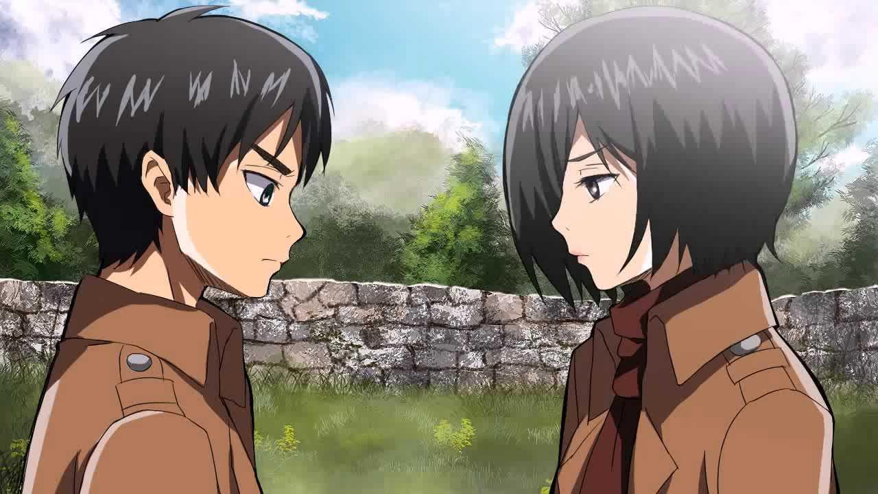 Eren Kisses Mikasa