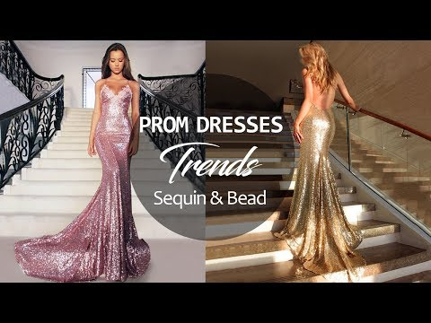 2018 Prom Dresses Trends - Sparkle & Shine Design | Gorgeous Formal Party Dress With Sequin & Bead