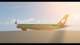 Roblox Flight #9   Singapore Air A350-1000 flight! (SIN-MLE)