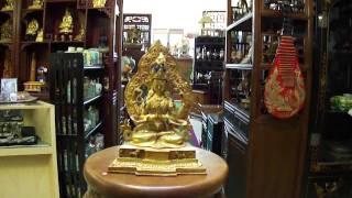 Brass Golden Gilt Four-arms Avalokitesvara Statue S2000m