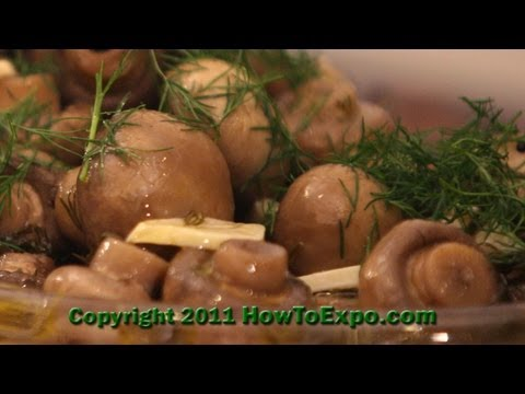 Marinated Mushrooms - Best Marinated Mushrooms Recipe - Mushroom Marinade