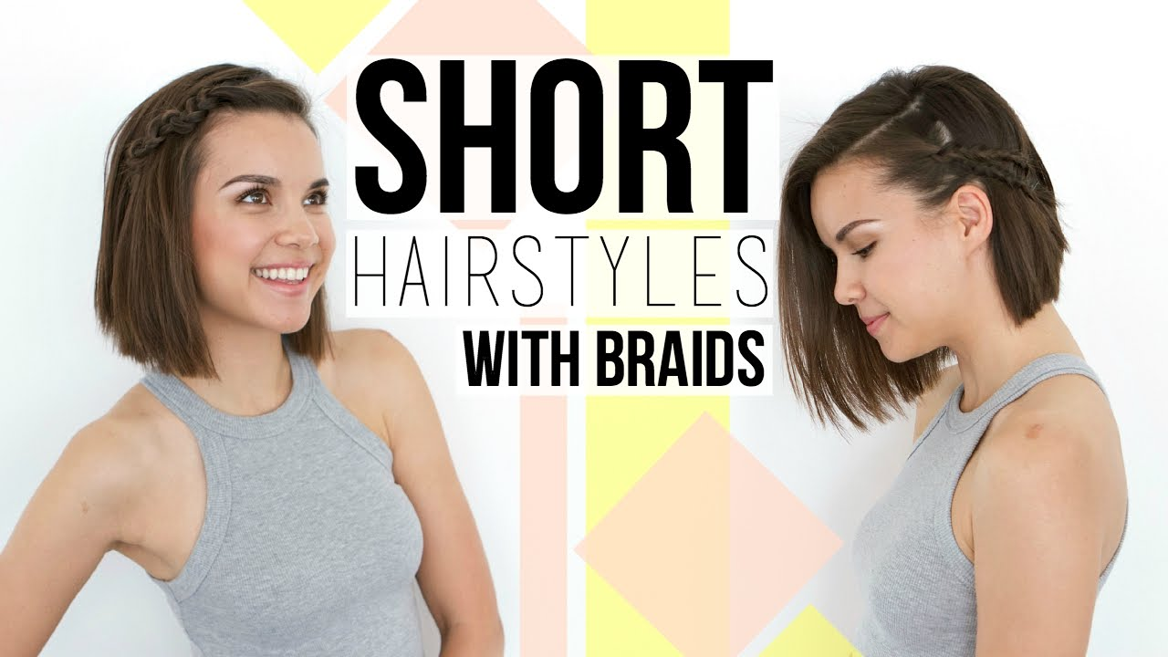 2 Quick & Easy Braids // Hairstyles for Short Hair + Bobs ...