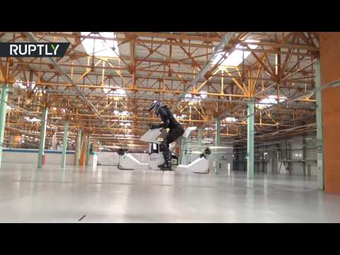 Forget hoverboards! World's first fully-manned hoverbike tested in Moscow