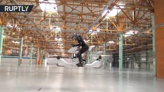 Forget hoverboards! World's first fully manned hoverbike tested in Moscow
