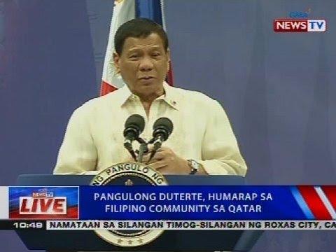 NTVL: Pangulong Duterte, humarap sa Filipino community sa Qatar
