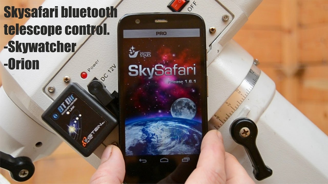 BTDir Bluetooth Telescope control Skysafari Android Skywatcher Orion
