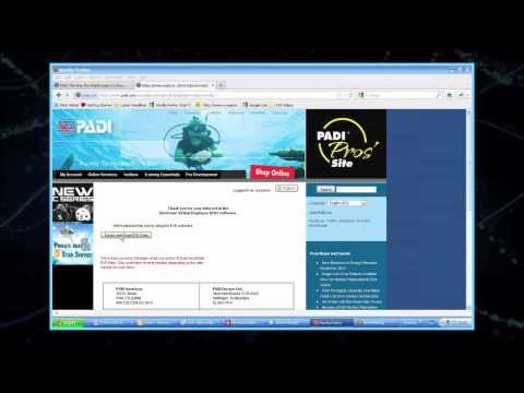 EVE Installation Tutorials Seven Steps   5. Requesting Your PADI Certification Data