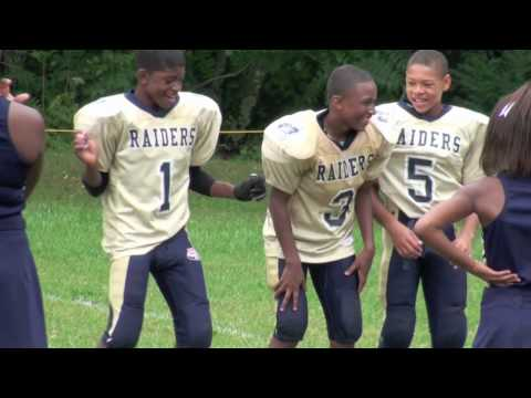 Robert Thomas of the Kernersville Raiders. Lookout Chris Johnson & Adrian Peterson. Pop Warner