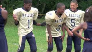 Robert Thomas of the Kernersville Raiders. Lookout Chris Johnson & Adrian Peterson. Pop Warner