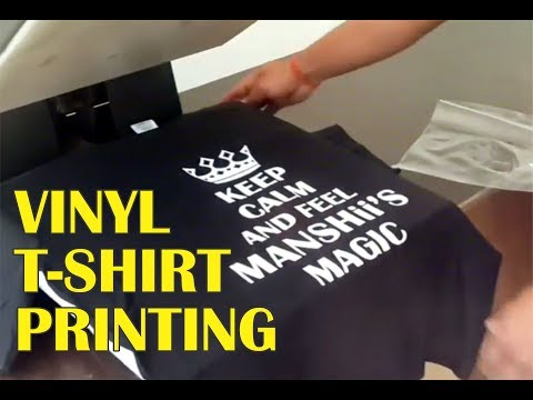 photo relating to Printable Tshirt Vinyl identified as Vinyl T-blouse Printing Information by way of The Printing Wala