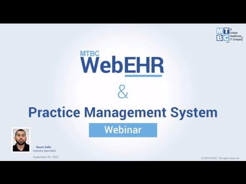 MTBC Web EHR & Practice Management System Webinar