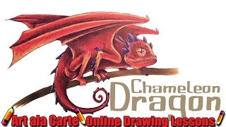 How to draw a Chameleon/Dragon