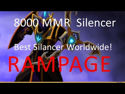 Silencer 7.0  - Rampage By the best Silencer worldwide [ 8000 mmr ranked dota 2 gameplay ]