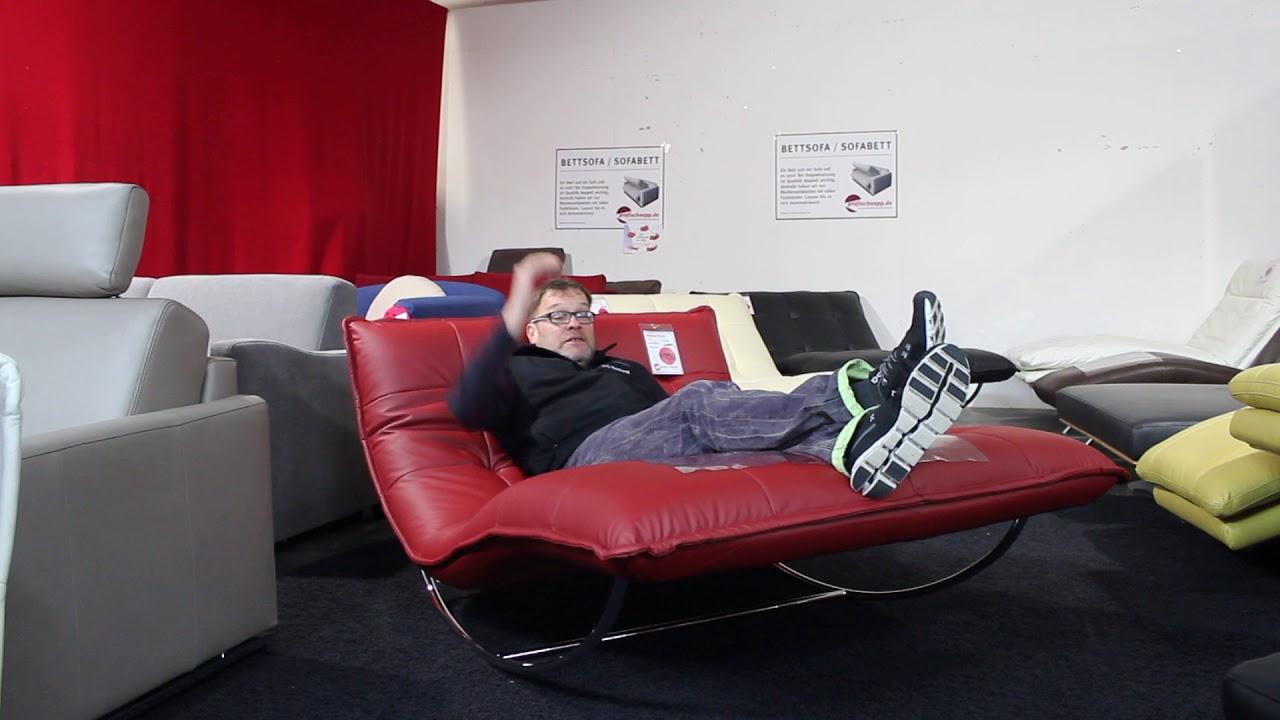w schillig doppel liege woow 10431 schaukel liege youtube. Black Bedroom Furniture Sets. Home Design Ideas
