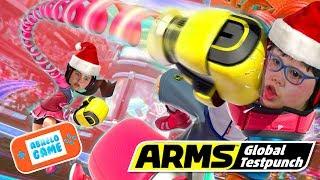 Arms en Navidad Karla vs Manuel Abrelo Game Arms