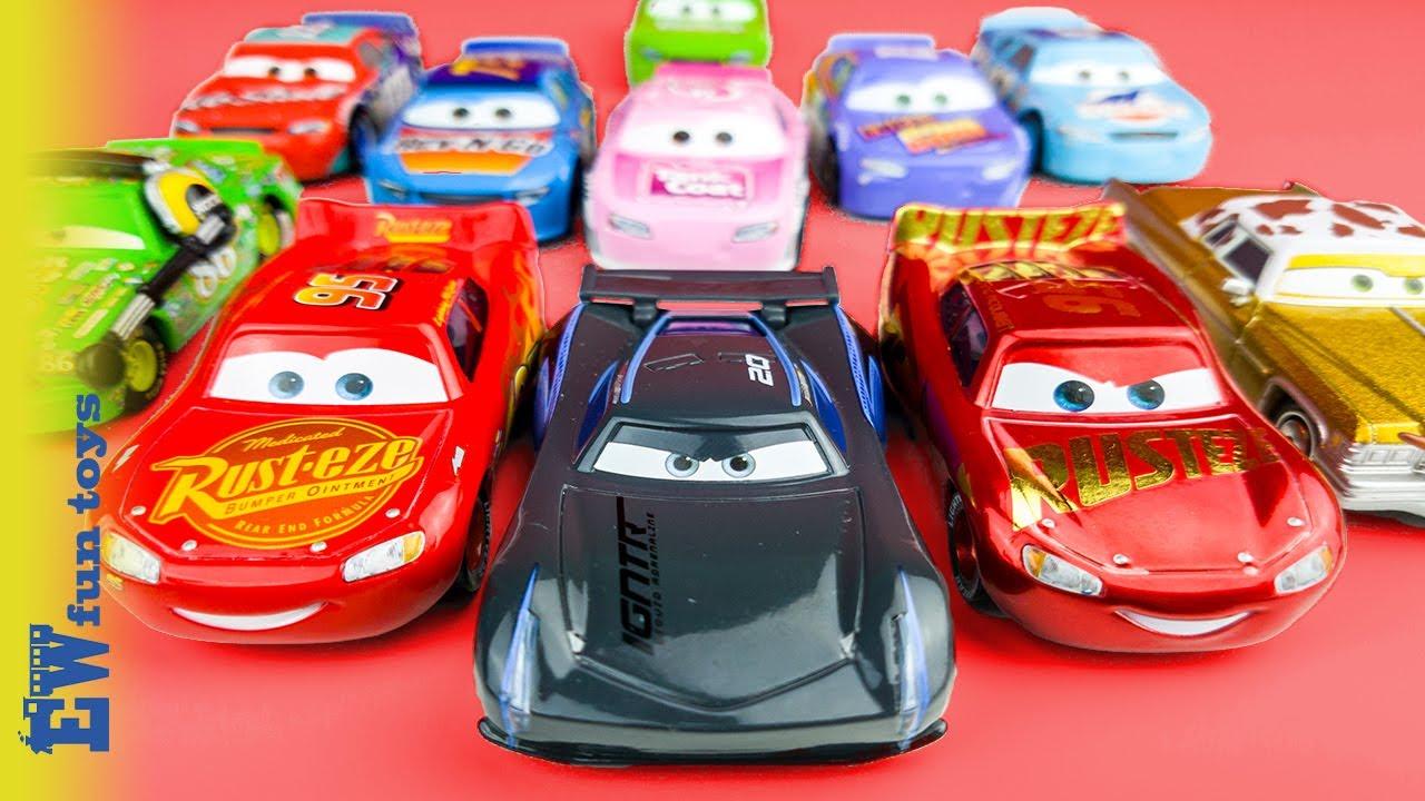 Disney Cars Toys Youtube: Disney Pixar Cars 3 Diecast Toys Part 1 Lightning Mcqueen