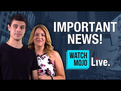 Dan and Rebecca Announcing WatchMojo Live from NYC!