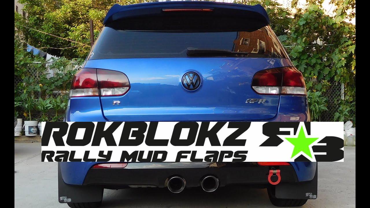 Diy Mk6 Gti Golf R Rokblokz Rally Armor Mud Flaps Install