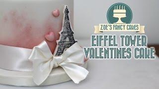 Eiffel tower Valentines cake