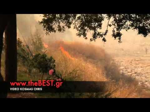 Αχαΐα Πάτρα : Φωτιά -Τραγικές στιγμές - Πύρινη λαίλαπα 1