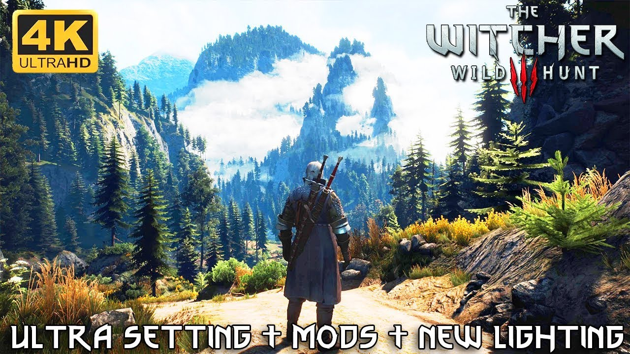 Best Skyrim Graphics Mods 2021 The Witcher 3   Best Graphics 2019 Ultra Modded 4K (ultra settings