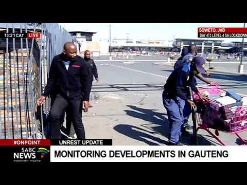 Gauteng Protests I Looting in Jabulani mall in Soweto