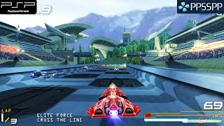 Wipeout Pure - PSP Gameplay 1080p (PPSSPP)