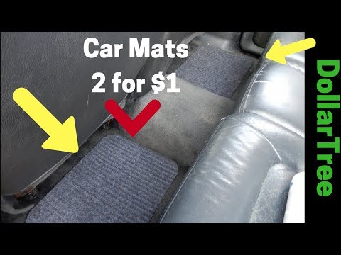 DollarTree..D.I.Y. Car Mats..Fits Any Vehicle  |  Great Deal or Wasted Dollar???
